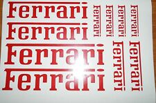 OFFER ON LISTING 10x Ferrari Car Vehicle Vinyl Stickers Decal Graphics ref 00005