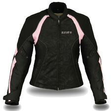 Ladies Motorbike Motorcycle Waterproof Cordura Jacket BP,SLIM FIT L (Size-10)