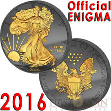 USA 2016 ENIGMA TWO SIDES $1 American Silver Eagle Coin Walking Liberty 1 oz