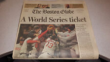 BOSTON GLOBE NEWSPAPER 10-21-2004 RED SOX BEAT YANKEES WS REVERSE OF THE CURSE