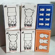 Trexi SET 6 figure Play Imaginative Diy tipo Munny 6cm in morbido vinile