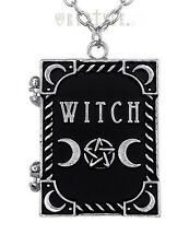 RESTYLE Gothic Wicca Book-shaped Photo-frame Locket Pendant Chain NECKLACE Witch
