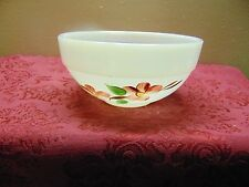 "FIRE-KING Oven ware 6"" - Made in the USA - Small Floral Bowl - Excellent Shape"