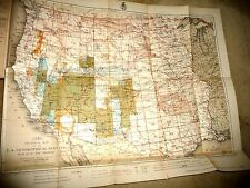 BOOK WITH LARGE MAP USA SURVEY WEST OF 100TH MERIDIAN ARMY POSTS NEVADA AZ  1880
