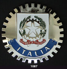 CAR GRILLE EMBLEM BADGES - ITALIA(CREST)