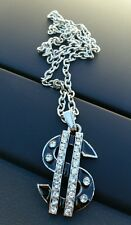 Silver Plated Dollar Money Lucky TALISMAN AMULET Pendant Car Rear Mirror Hanging