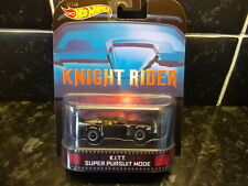 HOTWHEELS RETRO K.I.T.T IN SUPER PURSUIT MODE KNIGHT RIDER RIDER RUBBER TYRES