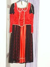 Women's Red Anne Boleyn Tudor Dress Costume UK 12 (164)