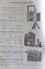 FOURNITURES POUR LA PHOTOGRAPHIE, POULENC, 1913, KRAUSS ZEISS,  ETC......