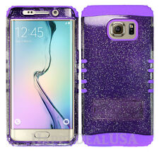 Hybrid Silicone Cover Case for Samsung Galaxy S6 Edge Plus PP/Glitter Smoke