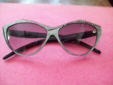 VINTAGE  GENNY BY GI & GI  HANDCRAFTED IN ITALY SUNGLASSES  BLACK SILVER W CASE