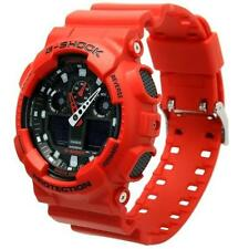 Casio G-Shock X-Large Analog-Digital 200m Red Resin Watch GA100B-4A