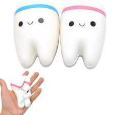 11cm Cute Teeth Soft Squishy Phone Charms Super Slow Rising Ballchain Kid Toy