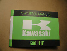 1975 Kawasaki 500 H1F Owner's Manual H1-F Owners Riders Rider's Handbook Shop