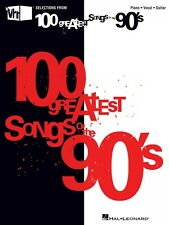 VH1's 100 Greatest Songs of the '90s Sheet Music Piano Vocal Guitar So 000311527