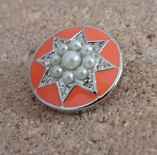 BUY 4, GET 5TH $6.95 SNAP FREE GINGER SNAPS™ Jewelry PEARL STAR - CORAL SN31-33