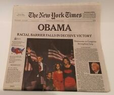 New York Times Obama Wins Election Nov 5, 2008 Shipped Flat