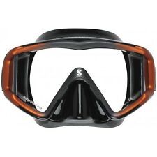 Scubapro Crystal VU Scubapro Diving Snorkling Mask - Metallic Black / Orange