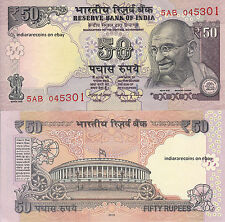 INDIA 2016 New Design 50 RS No Inset Offset Printing Bank Note Rajan UNC NEW