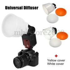 Universal Cloud Lambency Flash Diffuser Reflector White ABS with Dome Cover Sets
