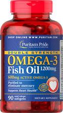Fish Oil Omega 3 Double Strength 1200mg 90 softgels | Puritan's Pride