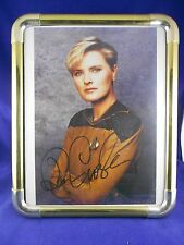 Star Trek Next Gen Denise Crosby - Lt. Yar  Autograph Photo in Solid Brass Frame