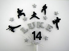 Karate,  martial arts  birthday cake topper personalised any name and age