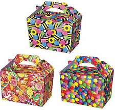 10 Candy Party Boxes - Sweet Treat Lollypop Food Loot Lunch Cardboard Gift