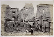 1857 PHOTO EGYPT FRANCIS FRITH THE TEMPLE PALACE , MEDINET HABOO
