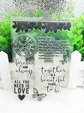 Clocks Silicone Clear Stamp Seal DIY Diary Scrapbooking Album Note Craft