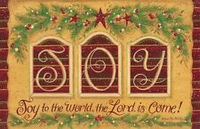 New Country Christmas JOY TO THE WORLD LORD HAS COME Pine Star Floor Mat Rug USA