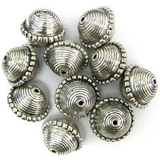 10 20mm silver plated CCB spacer bicone beads findings
