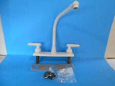 "*8""  2 HANDLE WHITE HI RISE KITCHEN FAUCET WITHOUT SPRAYER 45037100W"