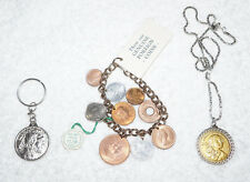 x3 COIN JEWELRY U.S. Foreign Vintage BRACLET Keychain NECKLACE Sacagawea Dollar