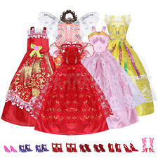 5 Vestiti da Sera con 10 Paia Scarpe per Barbie Bambole Vari Colori Modelli