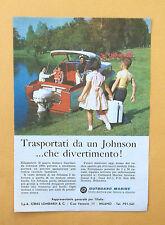 D063 - Advertising Pubblicità -1959- MOTORI JOHNSON , OUTBOARD MARINE