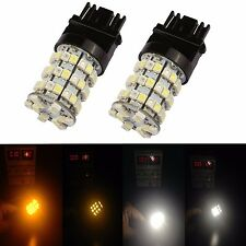JDM ASTAR 2x 3157 4157 LED Switchback 3528 60-SMD White Amber Turn Signal Lights