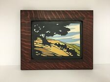 Motawi California Oak Art Tile Family Woodworks Oak Park Arts & Crafts Frame