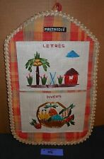 VTG Martinique MAIL LETTER Wall Holder HANGING ORGANIZER