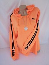 Nwt Victoria's Secret Bright Orange Pullover Sweatshirt Shirt PiNK XS