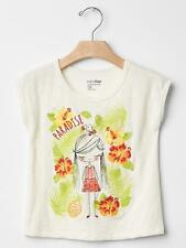 BABY GAP GIRL JUNGLE EMBROIDERED GRAPHIC TEE SHIRT NWT 5T M8