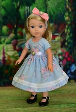 """Morning"" Dress Outfit for American Girl Wellie Wishers, Hearts for Hearts"
