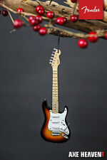 Officially Licensed Fender Sunburst Stratocaster Mini Guitar Holiday Ornament