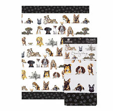 Dogs Tea Towel Scallywags Ashdene Pug Bulldogs Black Lab German Shepherd Cotton