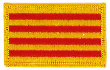 FLAG PATCH PATCHES SPAIN SPANISH CATALONIA CROSS IRON ON EMBROIDERED SMALL