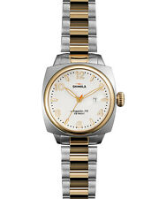 Shinola BRAKEMAN Watch 32mm GOLD + SILVER Stainless Steel Bracelet Metal Band