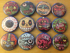"MADBALLS set of 12 1"" pins pinback buttons dust brain skull face horror figure"