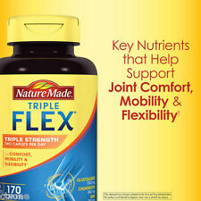 170 Nature Made TRIPLEFLEX Triple Flex Strength Glucosamine MSM Joint 170Caplets