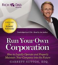 New Rich Dad Advisors Run Your Own Corporation 8 CD Wealth Business Management