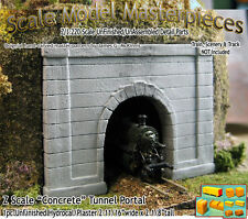 "Z Scale ""Formed Concrete"" Tunnel Portal Scale Model Masterpieces *NEW PRODUCT!*"
